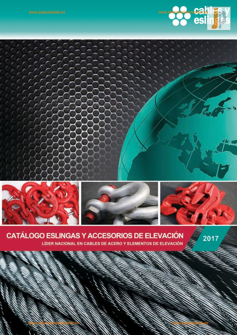 Cables y Eslingas CAT-TAR2017_2